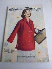 magazine Modes et Travaux n° 667  Juillet 1956 + patron