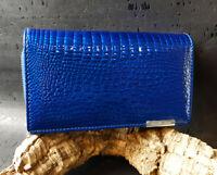 Damen Börse Geldbörse Portemonnaie Geldbeutel Gross Leder Brieftasche Croco RFID