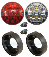 95mm LAND ROVER DEFENDER 90 110 LED REAR FOG REVERSE LAMPS LIGHT UPGRADE KIT NAS