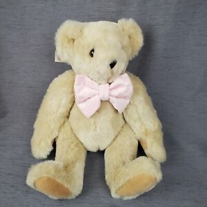 Vermont Teddy Bear Company Buttercream Jointed Bear Mothers Valentines Day Pink