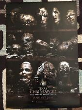 Texas Chainsaw 3D Original Movie Poster 27X40 Double Sided Advance 2013