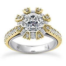 Halo 3.51 Carat SI1/H Round Cut Diamond Real Engagement Ring White Gold