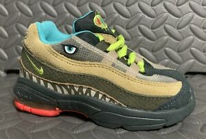 Nike Air Max 95 TD Monster Green Cyber Size 7C CI9945-300 Dinosaur Toddler Shoes