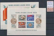 LO10727 Germany 1953 DDR Karl Marx year sheets MNH cv 200 EUR