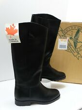 Vintage Eddie Bauer Women's Black Leather Tall Riding Boots Size US 8.5 D  NOS