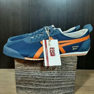 Asics Onitsuka Tiger Stripes D203N Mexico 66 Blue Red Shoes Sneakers Men Size 14