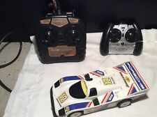 1985 Nikko Remote Control Porsche Racing Car And Two Controllers
