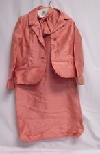 Women's Vintage Salmon Colored Outfit Dress & Blazer Coat