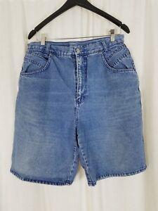Vintage Stefano 80s Taille Haute Mom Short Jeans Femmes 32 12 14 L Bleu Jean