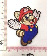 DIY Super Mario Tanooki Suit Emblem Sew Iron-On Embroidered Applique Patch Badge