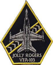 Fighter Squadron 103 Vf-103 Jolly Rogers United States Navy Embroidered Patch