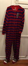 NICK & NORA Unisex Sz Medium Monkey Adult Footed Fleece Pajamas Soft