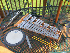 Pearl Xylophone, with stand, case & practice drum head