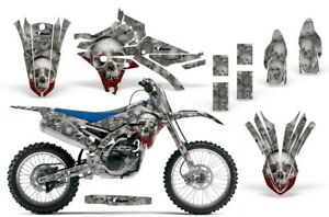 Graphics Kit Decal Wrap + # Plates For Yamaha YZ250F YZ450F 2014-2018 BONES SLV