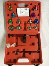 Radiator Pressure Tester Pump Water Tank Leak Detector Kit Aluminum Adapter 14pc