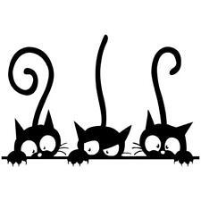 Three Kittens Cats Vinyl Wall Sticker Mural Fridge Wall Decals Art Wallpaper DIY
