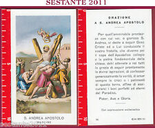 1015 SANTINO HOLY CARD S. ANDREA APOSTOLO MARTIRE ED G MI ED. G MI. 96 LOGO C