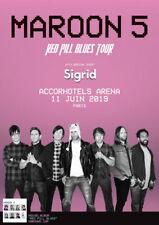 1 Place Ticket Billet Concert Maroon 5 Paris Bercy Accor Hotels 11/06/19