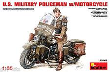 POLICIER MILITAIRE US. AVEC MOTO, WW2 - KIT MINIART 1/35 n° 35168