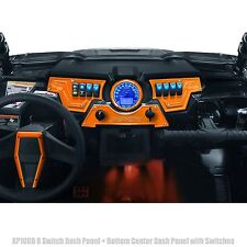 RZR XP1000 UTV 8 Switch 3 Piece Dash Panel with 6 Switches Orange Powdercoated