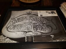 Canned Heat Living The Blues Rare Original Promo Poster Ad Framed!