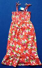 'THE CHILDREN'S PLACE' ORANGE FLORAL SMOCKED GIRL'S MAXI SUNDRESS 2 SIZES AVAIL