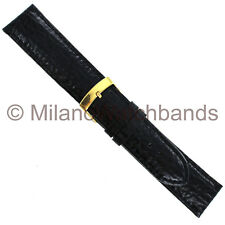 20mm Milano Black Shark Grain Leather Mens Band Reg 831 With Minor Back Defect