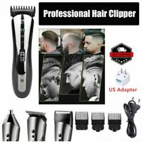 Rechargeable Hair Clipper Electric Mens Cordless Hair Trimmer Beard Shaver Razor