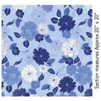 Blue Brilliance~Large Floral,Light Blue~Cotton Fabric by Benartex