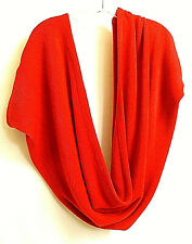 Red Knitted Wrap Shawl Scarf Stole shrug Cape Draped Back Dolman Sleeves VGUC