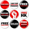 9 x Free Hong Kong 32mm BUTTON PIN BADGES Democracy Protest Support HK Freedom