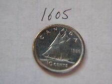 1956 10c ten cents silver dime  coin Canada