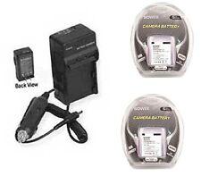 TWO 2X AHDBT-301 Batteries + Charger for GoPro HERO3 CHDHN-301 CHDHX-301 Camera