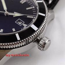 46mm bliger black dial luminous marks sub automatic mens wrist watch P469AU