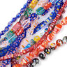 10 Strds Random Millefiori Lampwork Glass Beads Colorful Loose Spacers 10~14mm