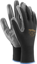 1,12 or 24 of NEW NITRILE COATED WORK GLOVES WHITE GRAY BUILDERS GARDENING