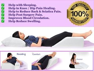 Elevating Leg Wedge Pillow for Back Hip Knee Pain & Maternity Pregnancy Support