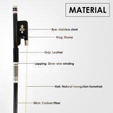 Professional Cello Bow 4/4 Full Size Carbon Fiber Horse Hair Cello Parts Blue