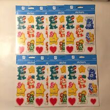 Lot of 8 NEW SEALED Vintage 80s Care Bears Stickers 4 Sheets Per Pack 288 Total!