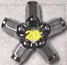 "1/2""X 20 RH LH RALLYE WHEEL LUG NUTS CUDA DUSTER DART CHALLENGER CHARGER MOPAR"