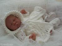 DK Knitting Pattern #42 TO KNIT Matinee Set Preemie Baby or 16in Reborn Dolls