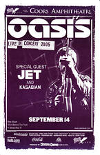 Oasis - Chula Vista, San Diego 2005 Concert Flyer ,Noel Gallagher, Beady Eye
