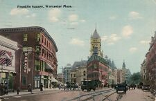 Antique POSTCARD c1914 Franklin Square WORCESTER, MA MASS. 13297
