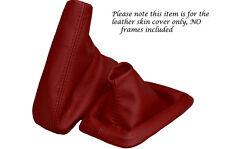 D Cuero Rojo Para Bmw Serie 3 E36 E46 arranque personalizado polainas Set cubierta 1992-2005