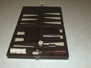 TRAVEL Magnetic BACKGAMMON Board Game in Case
