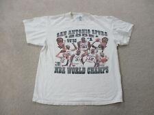 VINTAGE San Antontio Spurs Shirt Adult Extra Large White Black Basketball Mens *