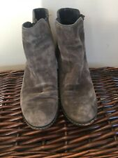 White Stuff Ankle Boots Size 8 Grey Suede
