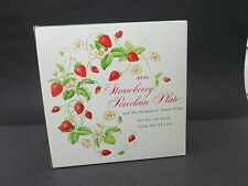 Avon Strawberry Porcelain Plate with 6 Strawberry Guest Soaps