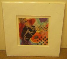 Mixed Media Collage by HINTON Dated 2008 MINT Condition with Mat!!