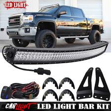 """50"""" Curved LED Light Bar w/Brackets, Plug&Play Wiring For GMC Yukon/Yukon XL"""